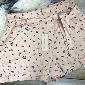 Rebecca Taylor Mia Floral High Waisted Shorts